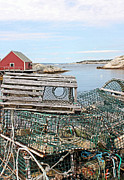 Ropes Framed Prints - Lobster Pots Framed Print by Kristin Elmquist