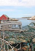 Lobster Pots Print by Kristin Elmquist