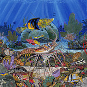 Parrot Fish Prints - Lobster Sanctuary Print by Carey Chen