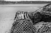Lobster Pots Prints - LobsterTrap Print by Dapixara Art