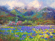 Flower Field Paintings - Local Color by Talya Johnson