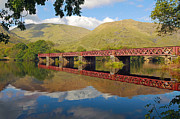 Loch Awe Framed Prints - Loch Awe railway bridge Framed Print by Grant Glendinning