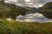 Gabor Pozsgai Metal Prints - Loch Dughaill Scotland UK Metal Print by Gabor Pozsgai