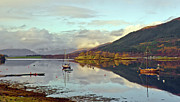 Moorings Prints - Loch Leven moorings Print by Gary Eason