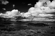 Rannoch Photo Prints - lochan na h-Achlaise loch in lochaber on rannoch moor in the scottish highlands Scotland UK Print by Joe Fox