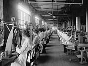 Factory Workers Framed Prints - Lock And Drill Department Assembly Line Framed Print by Everett