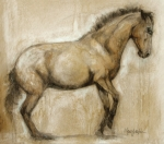 Horse Portrait Art - Lock and Load by Mary Leslie