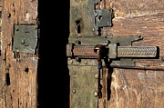 Entrance Door Photos - Lock of church. France by Bernard Jaubert