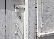 Architectural Detail Framed Prints - Lock on a Whitewashed Door Framed Print by Paul Edmondson