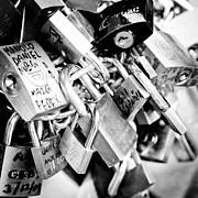 Padlock Posters - LOCK WISHES padlocks on the Saint Angelo Bridge Ponte Sant Angelo Rome Italy Poster by Andy Smy