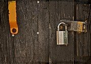 Barn Door Photo Prints - Locked Print by Odd Jeppesen