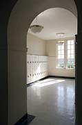 Grade School Prints - Lockers in a School Hallway Print by Will & Deni McIntyre