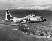 Historic Aviation Photos - Lockheed C-130 Hercules by Omikron