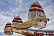 Historic Art - Lockheed Constellation by Carol Leigh