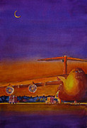 Lockheed Aircraft Paintings - Lockheed Galaxy C-5 Aircraft by Betsy Aguirre