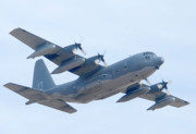 Take Off Prints - Lockheed HC-130P Hercules 64-14860 Davis-Monthan AFB Arizona March 8 2011 Print by Brian Lockett