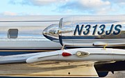 Seagull Aircraft Corp. Art - Lockheed Jet Star Engine by Lynda Dawson-Youngclaus