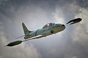 Jet Star Digital Art Metal Prints - Lockheed P-80 Shooting Star 2011 Chino Air Show Metal Print by Gus McCrea