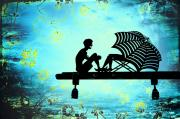 Umbrella Digital Art - Locks of Love by Evelina Kremsdorf