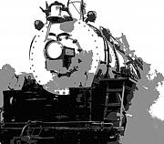 Train Mixed Media Prints - Locomotion Print by Richard Rizzo