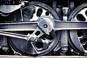 Locomotive Metal Prints - Locomotive Drive Wheels Metal Print by Olivier Le Queinec