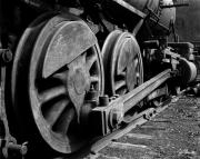 Monochrome Framed Prints - Locomotive Framed Print by Joe Bonita