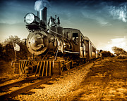 Railroad Art - Locomotive Number 4 by Bob Orsillo