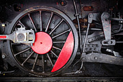 Iron Rail Framed Prints - Locomotive Wheel Framed Print by Carlos Caetano