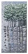 Winter Trees Tapestries - Textiles - Lodgepole Pine by Lorraine Roy