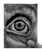 Eyeball Drawings Posters - Loeil Poster by Jody Roun