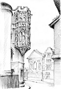 Cambridge Drawings - Lofty Heights by K M Pawelec