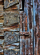 Cabin Photos - Log Cabin Door by Jill Battaglia