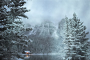 Log Cabin Enchantment Print by Andrea Hazel Ihlefeld
