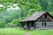 Log Cabin Photos - Log Cabin Fort New Salem by Thomas R Fletcher