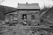 Log Cabin Photos - Log Cabin Home In Ohio. A Mother by Everett