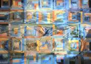 Wyoming Paintings - Log Cabin Quilt by Dawn Senior-Trask