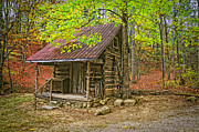Renfro Framed Prints - Log Home Renfro Valley KY Framed Print by Anne Kitzman