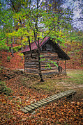 Renfro Framed Prints - Log Shed Renfro Valley KY Framed Print by Anne Kitzman