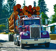 Lumbering Art - Log truck by Kat Scanlon