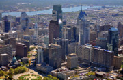 Commercial Real Estate Aerial Photographs Prints - Logan Center City Philadelphia Print by Duncan Pearson