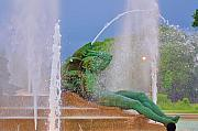 Swann Digital Art - Logan Circle Fountain 3 by Bill Cannon