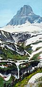 Alpine Digital Art Framed Prints - Logan Pass Framed Print by Mary Giacomini