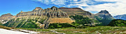 Landscape Prints Prints - Logan Pass Panorama Print by Greg Norrell