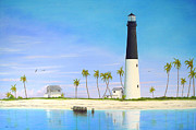 Dry Tortugas Framed Prints - Loggerhead Key Lighthouse Framed Print by Luis Nunez