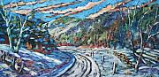 Winter Scene  For Sale Paintings - Loggers Road  by Richard T Pranke