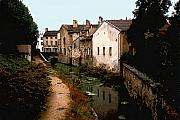 Canal Photo Originals - Loire Valley Village Scene by Nancy Mueller