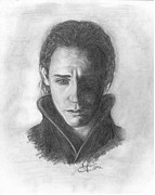Thor Drawings Prints - Loki Print by Christine Jepsen