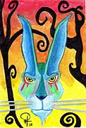 Bunny Paintings - Loki Lucky by Doug Hiser