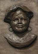 Black Sculptures Reliefs - Lola by Tomi LaPierre