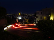 Laps Prints - Lombard Street at Night Print by Andrea Arnold